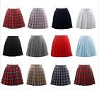 Harajuku Japanese High School Girls Summer Pleated Skirt Mini Solid Skirts Dress