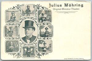 JULIUS-MOHRING-MINIATURE-THEATER-GERMAN-ANTIQUE-UNDIVIDED-POSTCARD