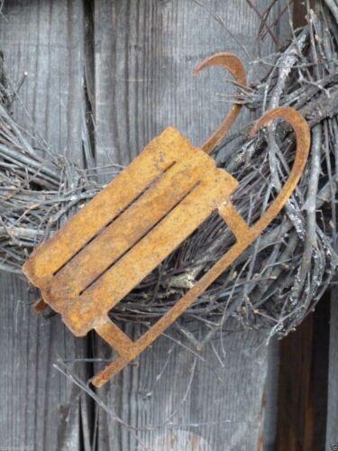 Edelrost Schlitten zur Wahl Rost Metall Garten Deko Türkranz Weihnachten Advent