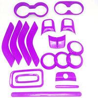 Interior Accessories Trim 18pcs For Jeep Wrangler Jk Unlimited Cab 4 Door Purple