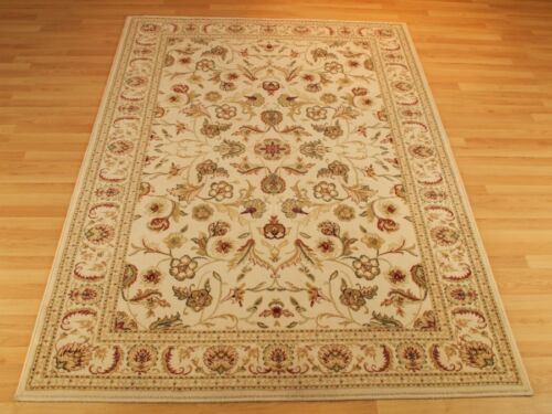 XXL 35/%OF QUALITY CREAM RED Traditional Persian Oriental Design Rug 100/% Wool M