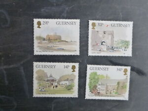 GUERNSEY-1986-MUSEUM-SET-4-MINT-STAMPS
