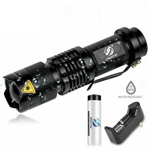 50000LM Tactical Q5 LED Flashlight Zoomable Lamp Light 18650 3 Modes Torch  RP