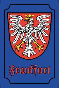 Frankfurt-Escudo-Cartel-de-Chapa-de-Metal-Metal-Tin-Sign-20-X-30CM