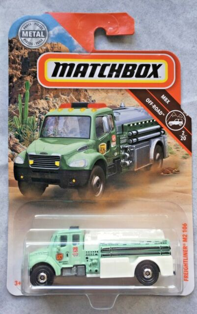 2019 Matchbox Freightliner M2 106 Green Fire Truck Mbx Off-Road National Parks