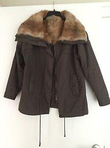 info pour 110cb 14477 Details about Bel Air Parka Coat With Fur Collar 1 S