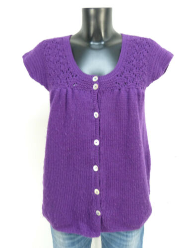 pura Cardigan Batik K vergine S Modern Antik Purple 0218 Gr lana 100 0HqfA