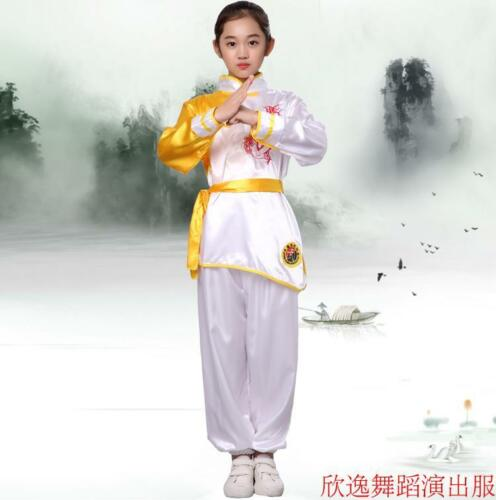 4 Color Loose Dragon Clothes Chinese Wushu fashion Uniform clothing Suit child
