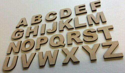 Wooden Letters Numbers Alphabet MDF Shapes Decoration Scrapbook Embellishments A