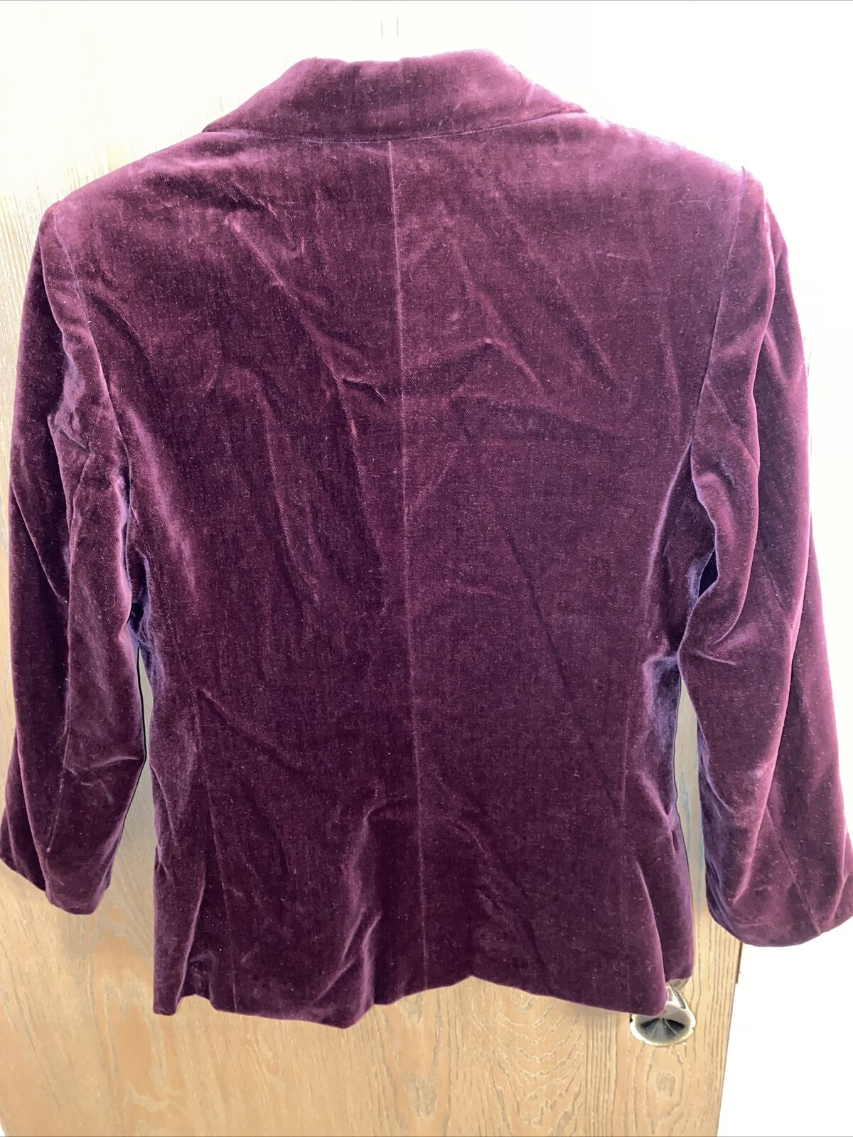 Chaus Red Maroon Velvet Rayon 2 Button Blazer Jac… - image 3