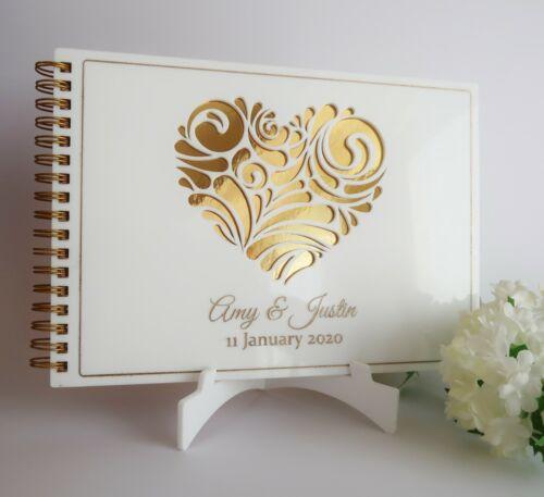Wedding Guest BookPERSONALISEDwhiteA4 PREMIUMEngagement gift