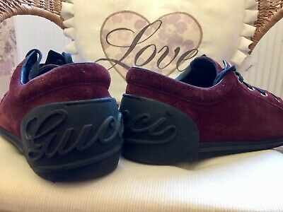 Gucci Trainers Red/Brown 8.5 Gucci Logo