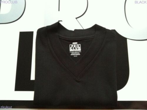 1 NEW PROCLUB V-NECK T-SHIRT COMFORT BLACK BLANK PLAIN TEE PRO CLUB S-3XL 1PC