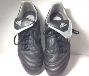 2d8765938 Adidas Traxion Men Soccer Cleats Shoes Firm Ground Black Silver US ...