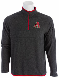 NEW-ERA-Arizona-Diamondbacks-1-4-Zip-Men-039-s-Shirt