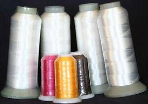 NEW-FOUR-X-LG-CONES-WHITE-BOBBIN-THREAD-MACHINE-EMBROIDERY-for-Singer