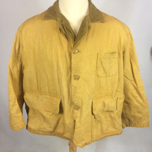 Vintage 30s 40s Canvas Duck Bird Hunting Coat Jack