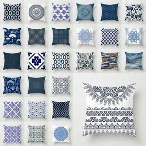 Polyester-Blue-white-porcelain-pattern-Sofa-Car-Decor-Pillow-Case-Cushion-Cover
