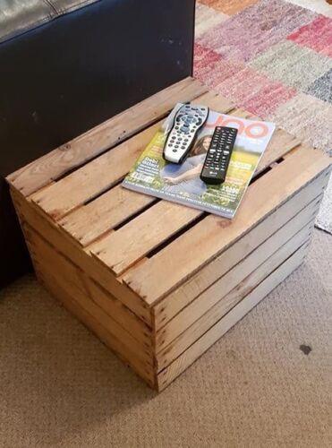 IDEAL TOY BOX jouet pour chien//Chaussure//Boîte de rangement Vintage en Bois Pomme caisse avec couvercle..