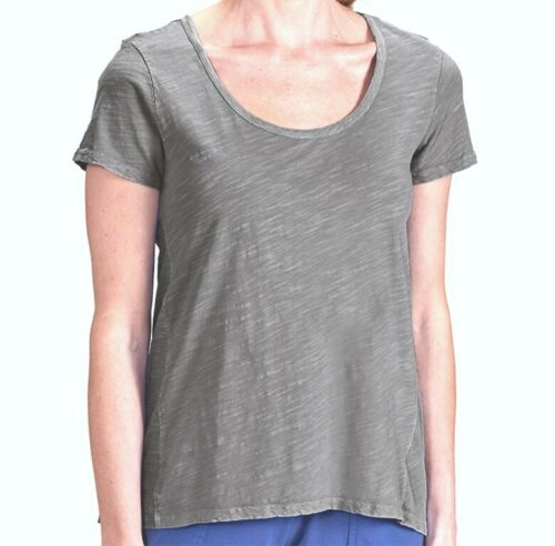 FRESH PRODUCE Large SHALE GRAY Cotton Luna Scoop Top $49.00 NWT New L