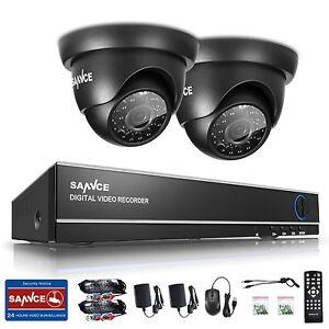 SANNCE 720P 4CH System 1080N HDMI 2x1500tvl TVI Camera Night Vision Video Remote