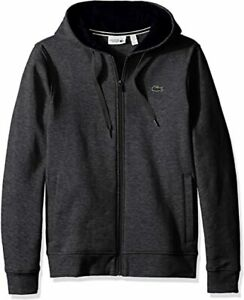 Lacoste-Men-039-s-Sport-Fleece-Zip-Up-Hooded-Sweatshirt-Pitch-Navy-Blue-4XL