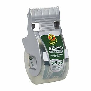 Duck Brand EZ Start Packaging Tape with One Handed Dispenser, 1.88-Inch x 55.5-Y