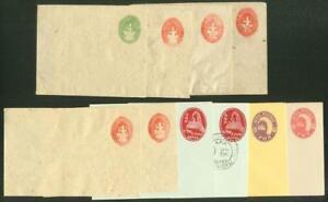 Nepal-1935-68-mint-stationery-envelopes-x10