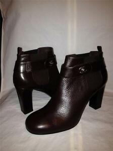 Image is loading CHANEL-13A-2013-Brown-Leather-Turnlock-Ankle-Booties-