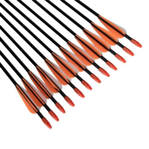 """31/"""" Tir à L/'Arc Flèche en fibre de verre Flèches La cible Chasse Compound Bow//carquois"""