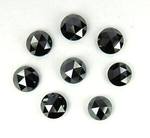 Natural-Loose-Diamonds-Round-Rose-cut-Fancy-Black-I3-Clarity-3-0-MM-5-Pcs-Lot-P3