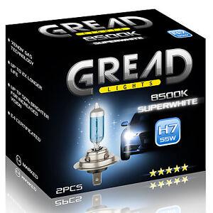 H7 GREAD 55W 8500K XENON LOOK OPTIK HALOGEN LAMPEN E-PRÜFZEICHEN SUPER WHITE