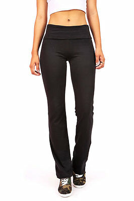 High Waist Foldover Stretch Yoga Pants Gym Workout Lounge Athletic Casual Comfy