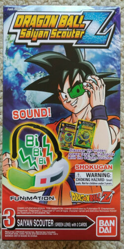 Bandai Dragon Ball Z Saiyan Scouter Green Lens Anime Cosplay Pretend Play DBZ