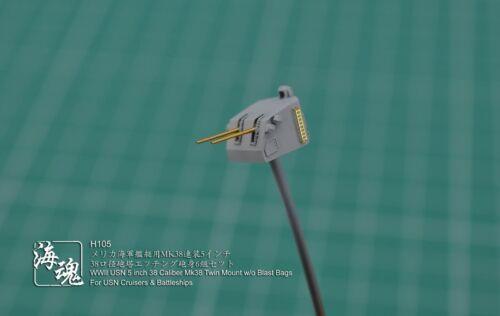 For CA/& BB OceanSpirit H105 1//700 USN 5 inch Mk38 Twin Mount w//o Blast Bags