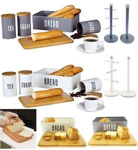 RETRO-TEA-COFFEE-SUGAR-STORAGE-CANISTERS-BREAD-BIN-KITCHEN-TOWEL-HOLDER-MUG-TREE