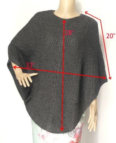 Lusso di alta qualità Tuck Knot Cashmere Poncho Cardigan Wrap-Nuovo Design