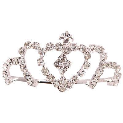 Zielstrebig Hochzeit Braut Silber Pt Durchsichtig Kristall Tiara Herz Krone Abiball Braut-accessoires