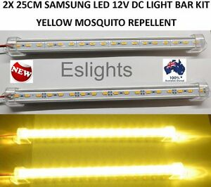 New 2x 25cm mosquito repellent led light bar camping awning fishing image is loading new 2x 25cm mosquito repellent led light bar aloadofball Images