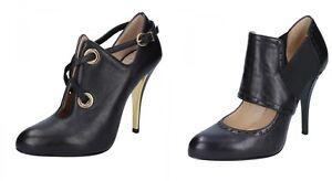 GIANNI MARRA scarpe donna stivaletti tronchetti nero pelle e tessuto