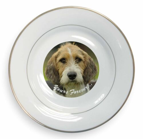 "Welsh Fox Terrier Dog ""Yours Forever"" Gold Rim Plate in Gift Box C, ADFT4yPL"