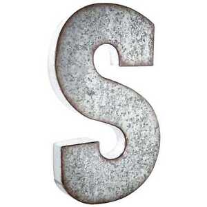 "20 Inch Galvanized Metal Letters Large 20"" Industrial Galvanized Metal Letter Wall Decor Xxl"