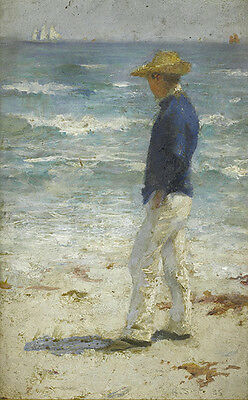 Henry Scott Tuke Beach Study Vintage Fine Art Print