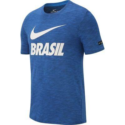 Nike Brazil Brasil WC World Cup 2018 Selecao Soccer DryFit Squad Shirt Black