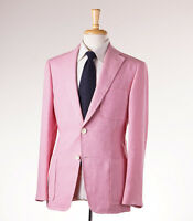 $2595 D'avenza Solid Light Pink Extrafine Linen Blazer 38 R Sport Coat on Sale
