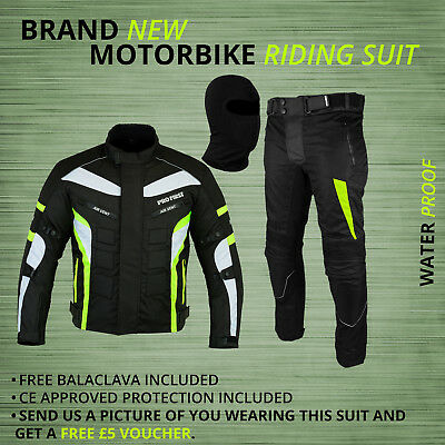 CE Armour FREE BALACLAVA X-Small 6 Packs Design Most Popular Waterproof Motorbike Gears Motorcycle 2 Suit Jacket /& Trouser Cordura Fabric Black /& Gray
