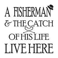 Primitive Fishing Stencil A Fisherman And The Catch...for Signs Home Welcome