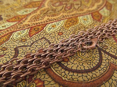 """10 Antique Copper Necklaces - 24 Inch Rolo Chain - Jewelry Findings Crafts 24"""""""
