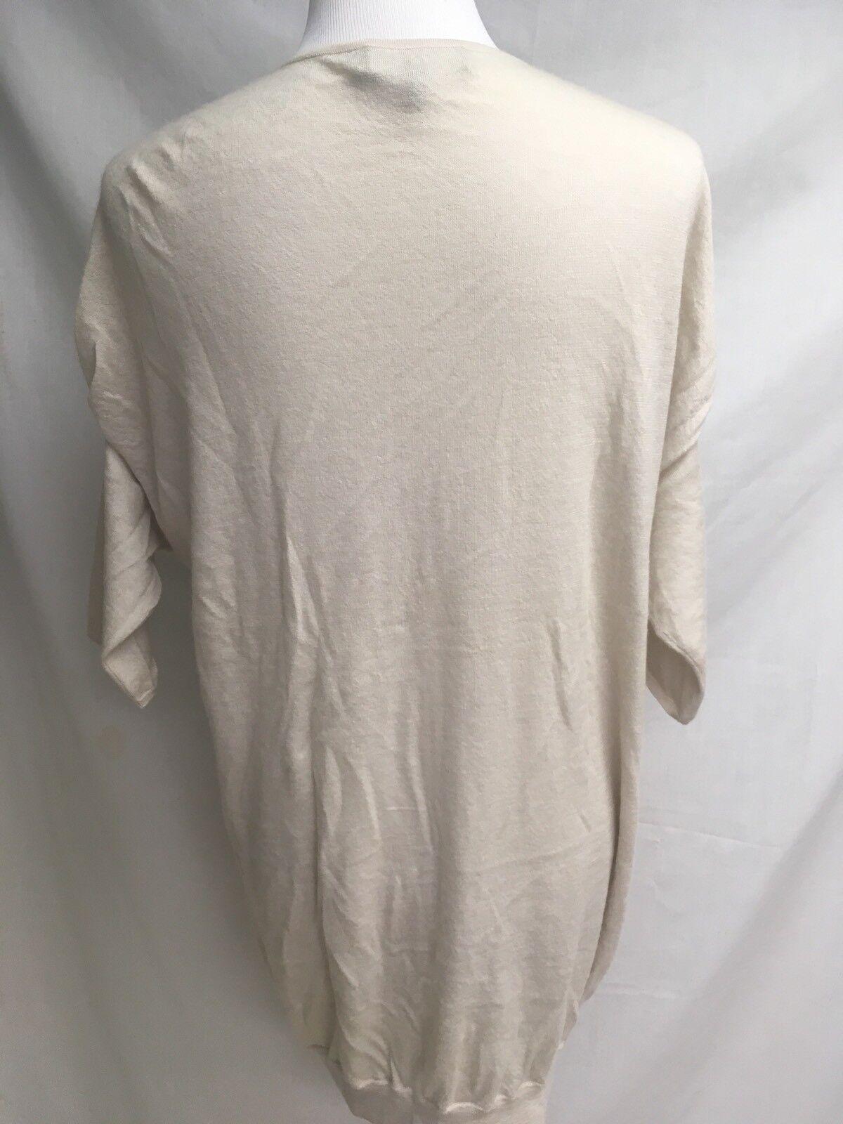 Robert Rodriquez Light Weight Cream 100% 100% 100% Cashemere Sweater   300.00 Value 62db31