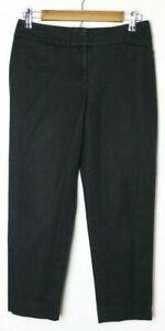 ANN-TAYLOR-LOFT-Women-039-s-Julie-Capri-Pant-Flat-Front-Tapered-Leg-Black-Size-0